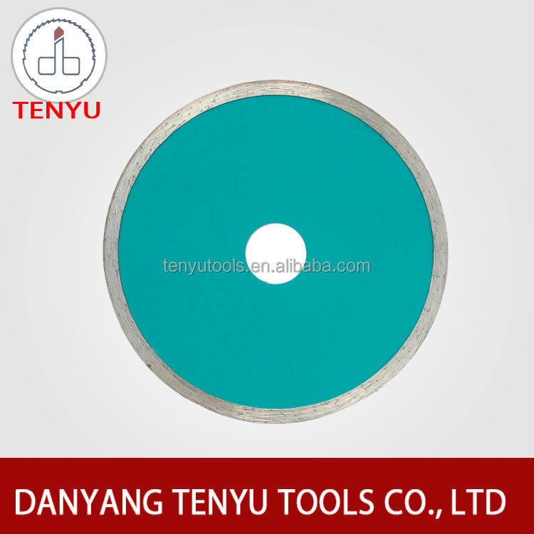 Continuous rim diamond tile cutting wheel grinding whell