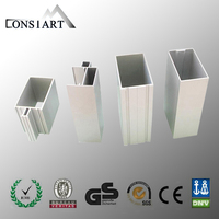 qualify aluminium rectangular box section protection extrusions hollow section