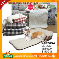 2016 New Design Dog Pet Products Fancy Foldable Extra Large Dog Beds