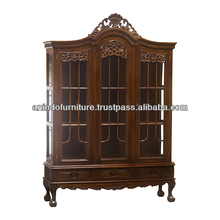 High China Display Cabinet with Carved