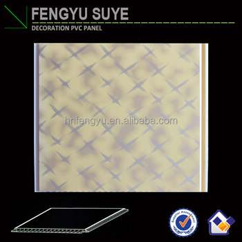 High Quality Waterproof PVC Panels Decoration Material Bathroom Ceiling Tiles Design PVC False Ceiling Board