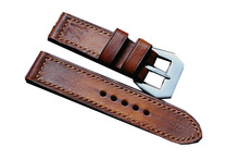 men genuine leather strap with pin deployment clasp watch band 18mm 20mm 22mm 24mm