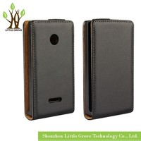 High quality For Nokia Lumia 435 532 Genuine Leather Flip Magnetic Case Cover Free Shipping