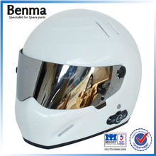 Pure white high quality bluetooth helmet for motorcycle riding,phone listening helmet