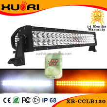 New Type Strobe/ Flash Dual Color Amber white 120w 21.5inch 4x4 Off Road Led Light Bar With Wireless Remote Control