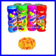 fruit shape tablet powder candy with acide powder