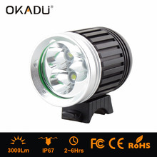 3000 Lumen rechargable motorcycle led head lamp