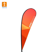 outdoor wind flag stand promotion tear drop banner double sides teardrop flags