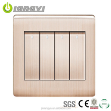Hot Sale Energy Saving 4 Gang 1 Way Wall Switch