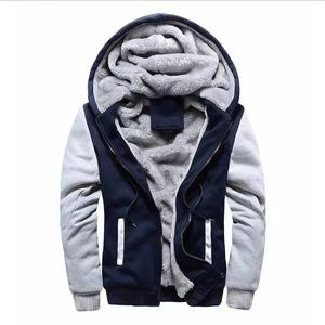 wholesale Eco-Friendly fleece hoodies men's Sherpa fleece lined hoodies
