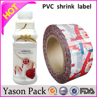 Yason lowest price shrink sleeve for red wine bottles pvc shrink tube made in china blue film shrink label