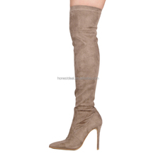 Wholesale pointed toe suede sexy stiletto thigh high boots