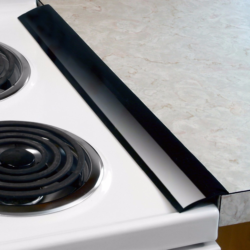 Purplewind Flexible Black White Clear silicone stove gap cover