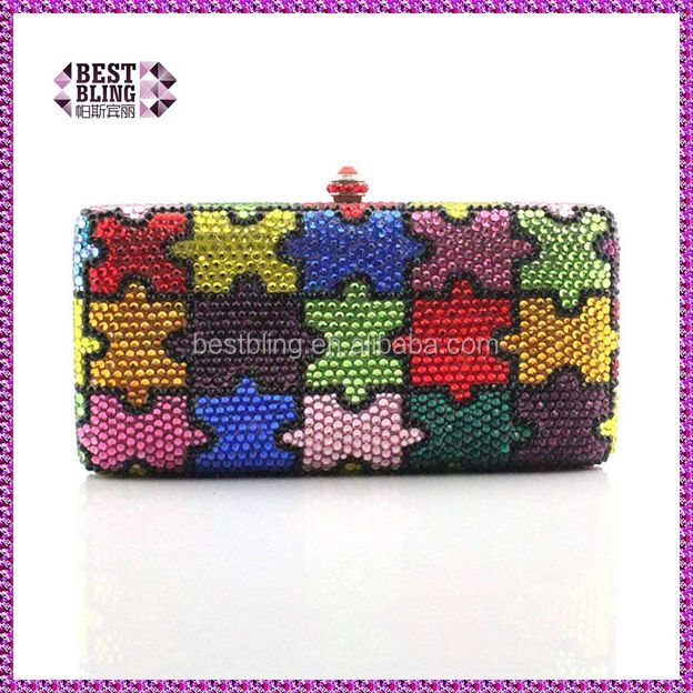 diamante evening bags / crystal evening clutch /ladies party wear bags (1004-JP)