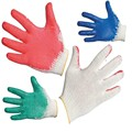MHR Red latex coated construction working gloves with good quality