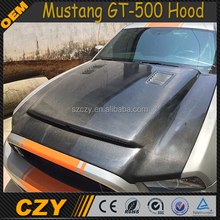 New Arrival Engine Carbon Fiber GT-500 Mustang Hood for Ford GT-500 13-14
