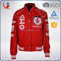 Wholesale waterproof polyester red color plus size varsity american college jacket