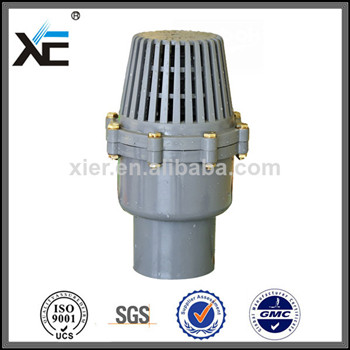 PVC Water Pump Foot Valve with Strainer for Irrigation