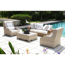 Malaysia Veitnam Thailand style for open space lobby pool side use conversation set rattan outdoor hotel furniture
