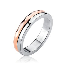 Marlary Stainless Steel Rose Gold Ring Blanks Jewelry Making Simple Design Engagement Ring