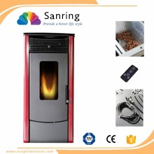 Good price wood pellet stove, double doors wood pellet fireplace with CE and TUV certificate
