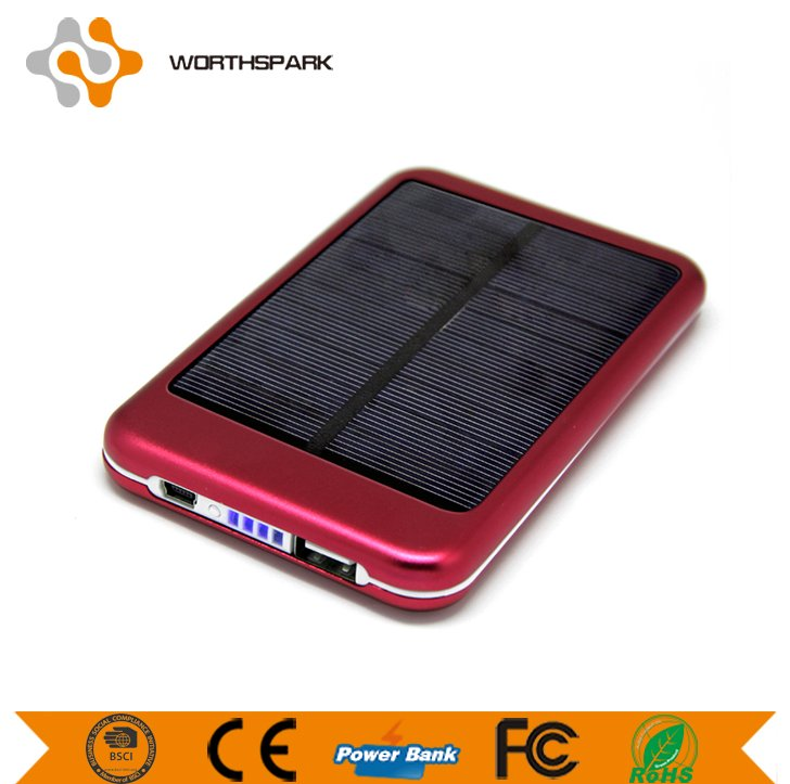 Factory direct high quality solar power bank 6000mAh