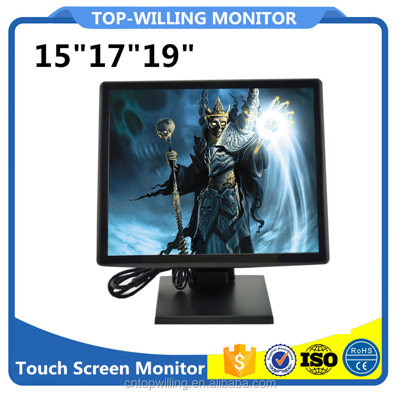 T92P 19 Inch 4:3 TFT LCD USB Multi Touch Screen VGA Monitor With DVI & HDM Input