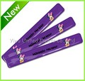 Custom LOGO print PVC snap bracelets/print snap band for promotion