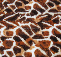 made in China animal skin combined print fabric wholesale flannel fleece cloth for bedding cover