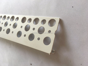 (High quality) plastic extruded pvc profiles/corner angle bead