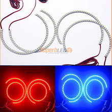 car assessories CHINA supplier automobile led color changing angel eyes 146mm for bmwe46