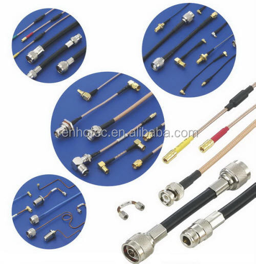 RF electrical wire coaxial cable connector BNC/SMA/F/TNC/N/SMB/MCX/IPEX/<strong>U</strong>.fl male female pigtail cable assembly support OEM