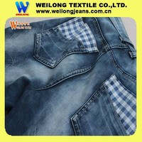 B2441-A 11.4oz double layer heavy fabric stripe combed cotton denim jeans fabric wholesale