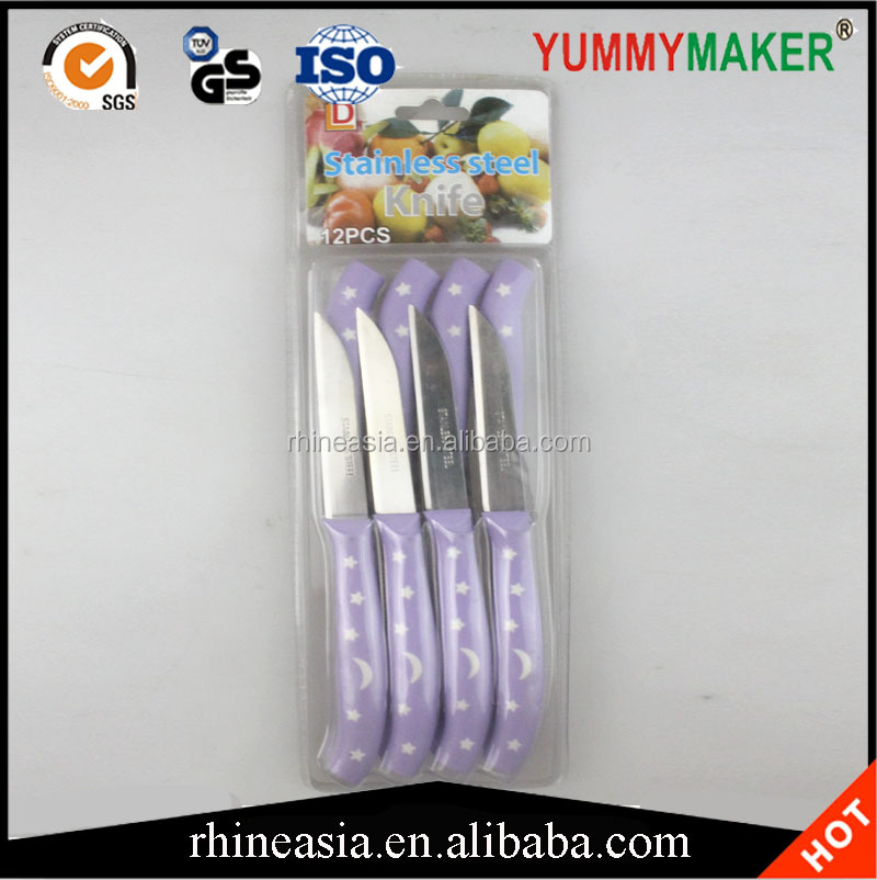 2017 Plastic handle household kitchen knife fruit knives