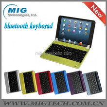 tablet keyboard case For ipad 2 3 4 aluminum case Wireless Bluetooth stand case , 6 colors Factory price