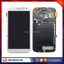 china supplier mobile phone display for Samsung note 2 white, lcd screen for samsung note 2