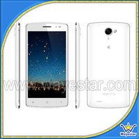 White Cellular Phone 5 Inch QHD Touch Screen Dual SIM