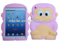 For iPad Mini 3D Animal Silicone Case,Monkey Ape,Cheeky Chimp