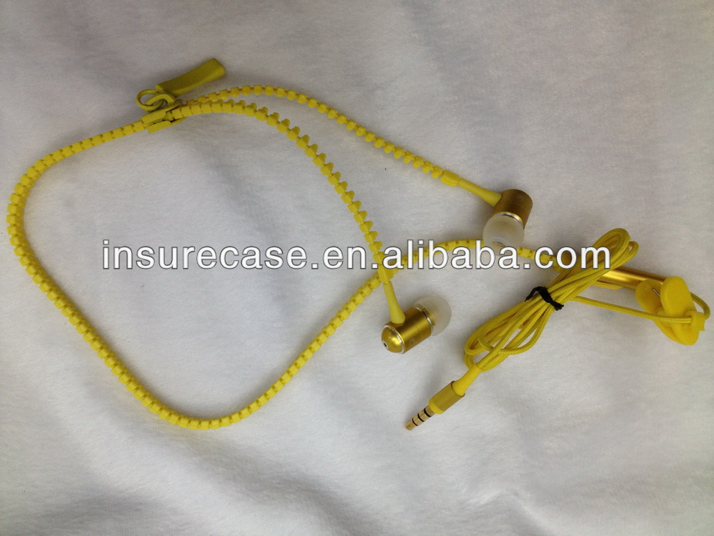 2013 NEW Fashion waterproof zip earphone with Mic