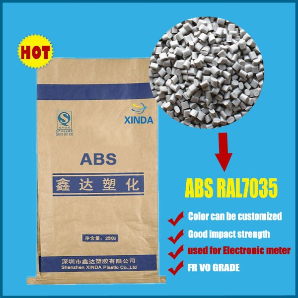 RAL 7032 Grey Color Heat Resistant ABS V0 Plastic granules/resin