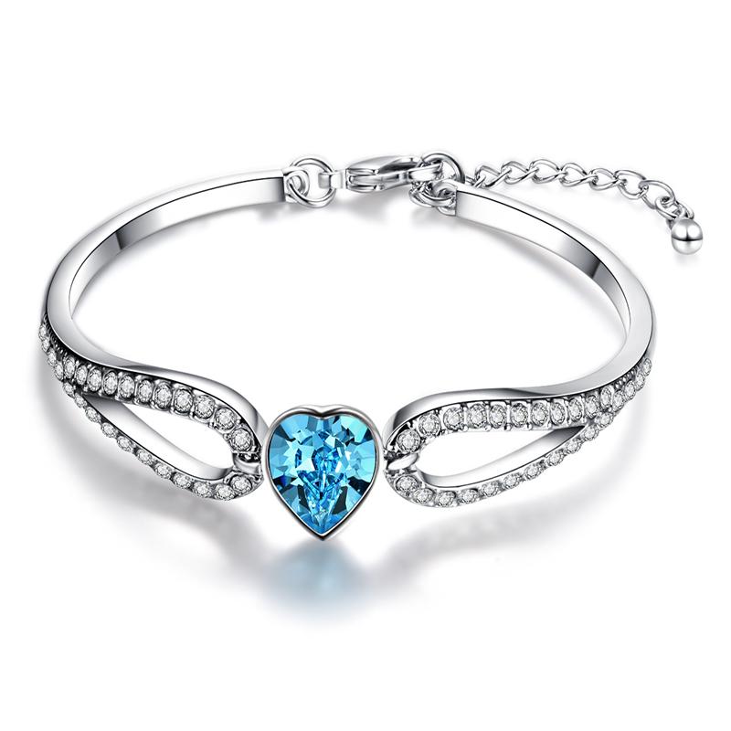 d094c680728a1 Eccosa moda dulce amor corazón pulsera, estiramiento pulsera buen regalo  para las mujeres Día de