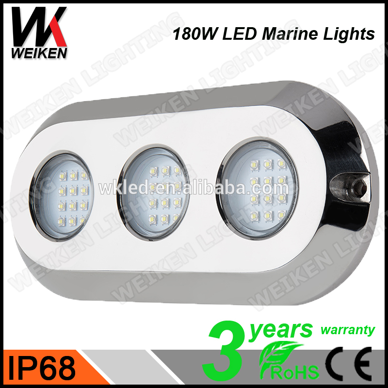 High Power IP68 180W Stainless Steel Housing LED Underwater Lighting LED Pool Lighting wireless