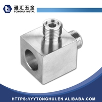 Butt Weld 3 Way Hydraulic Stainless Steel Pipe Fitting Union Connector
