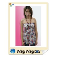 OEM Top1 Summer Knitted Print Pattern Woman Stringer Vest
