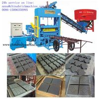 slag concrete cement hollow block brick making machine/moulding machine