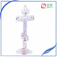 Altar Standing Silver Russian Orthodox Cross