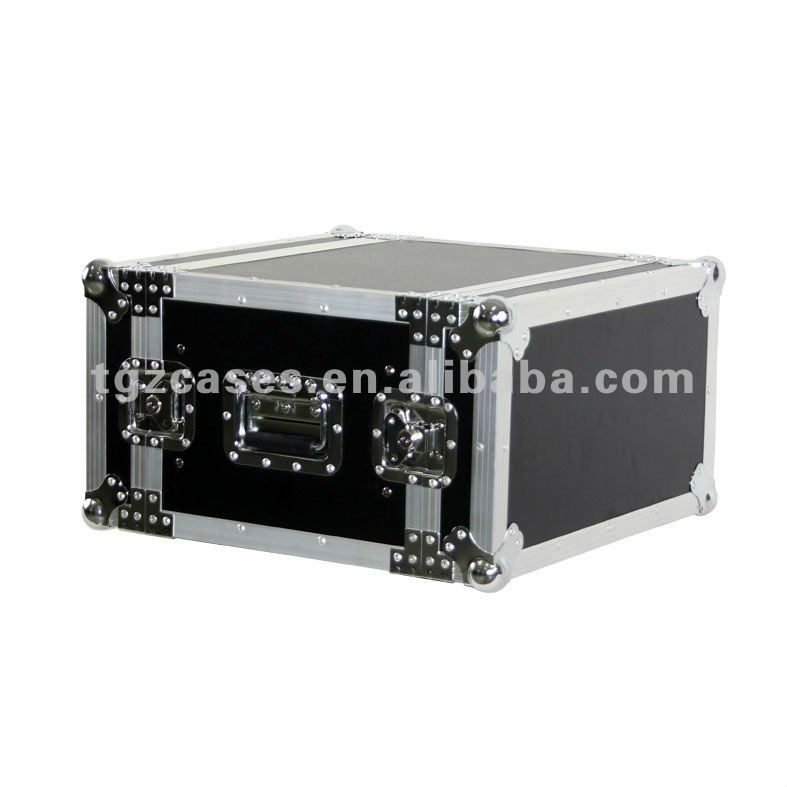 6U amp rack flight case