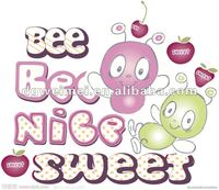 children sweet tattoo sticker with bee style