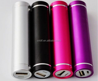 2600mah cylinder shape external tube power bank for digital products low price Custom logo