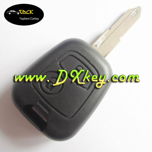 Shock price fake car key for 2 buttons 434 MHz peugeot 206 207 remote key ID46 Chip with logo